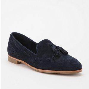 Dolce Vita Black Suede Tassel Loafers